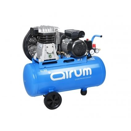 COMPRESOR 2HP 50 LITROS 8Bar 220L/min. MONOFASICO AIRUM
