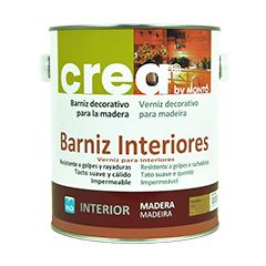 CREA BARNIZ INTERIOR SATINADO ROBLE 500ML