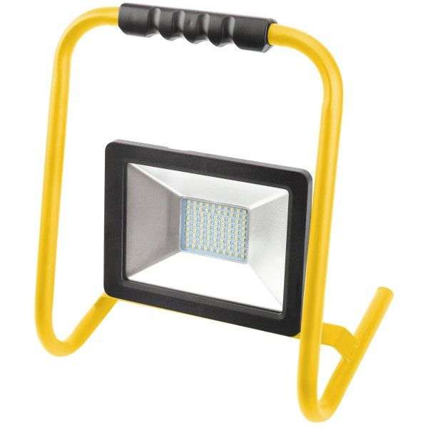 PROYECTOR LED 30W CON SOPORTE NEGRO CABLE 1,5m 3000LM FRIA
